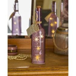 Bottiglia di vetro con luce interna e scritta Love You