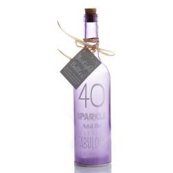 Bottiglia di vetro con luce interna per 40° compleanno