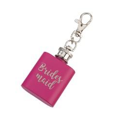 Mini fiaschetta rosa per damigella
