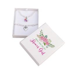 Set di collana e bracciale con fiorellino