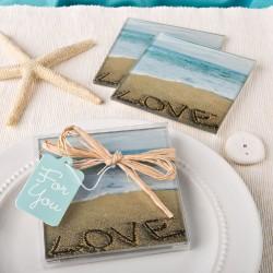 Sottobicchieri a tema spiaggia set 2 pezzi