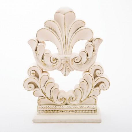 Vintage Style Flourish Design Fleur De Lis Cake Topper Centerpiece