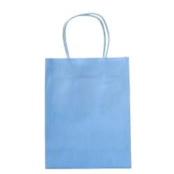Buste azzurre con manico 15 pezzi