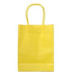 Buste gialle con manico 15 pezzi