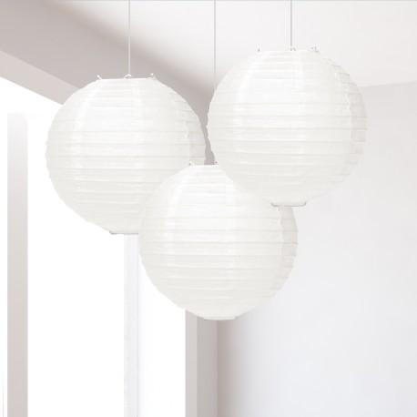 Lanterne in carta bianche