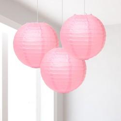 Lanterne rosa piccole 3 pezzi