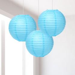 Lanterne azzurre piccole 3 pezzi
