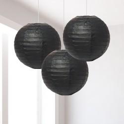 Lanterne nere piccole 3 pezzi