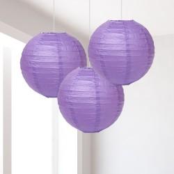 Lanterne lilla piccole 3 pezzi