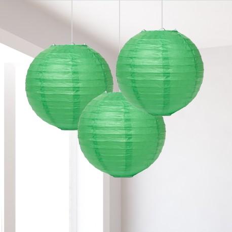 Lanterne verdi piccole 3 pezzi