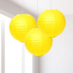Lanterne gialle piccole 3 pezzi