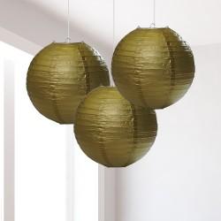 Lanterne dorate piccole 3 pezzi