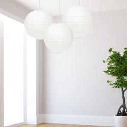 Lanterne bianche medie 3 pezzi