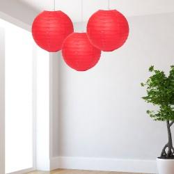 Lanterne rosse medie 3 pezzi