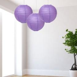 Lanterne lilla medie 3 pezzi