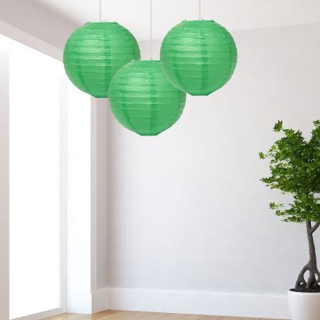 Lanterne verdi medie 3 pezzi
