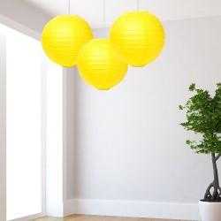 Lanterne gialle media 3 pezzi