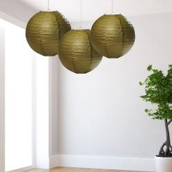 Lanterne dorate medie 3 pezzi