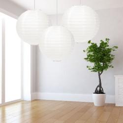 Lanterne bianche grandi 3 pezzi