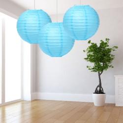 Lanterne azzurre grandi 3 pezzi