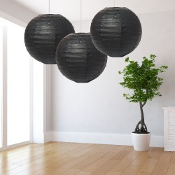 Lanterne nere grandi 3 pezzi