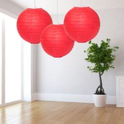 Lanterne rosse grandi 3 pezzi