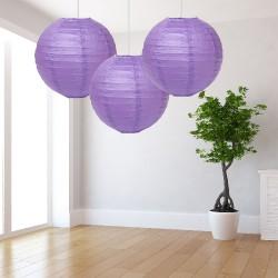 Lanterne lilla grandi 3 pezzi