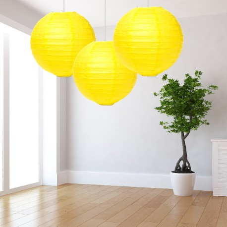 Lanterne gialle grandi 3 pezzi