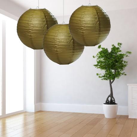 Lanterne dorate grandi 3 pezzi