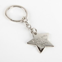 Metal Star Keyring Love You Daddy