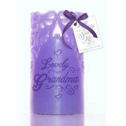 Candela senza fiamma viola Lovely Grandma