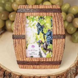 Cornice per foto a forma di botte di vino