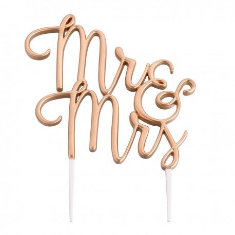 Cake topper Mr e Mrs dorato