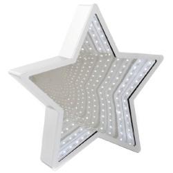 Luce led argentata a forma di stella