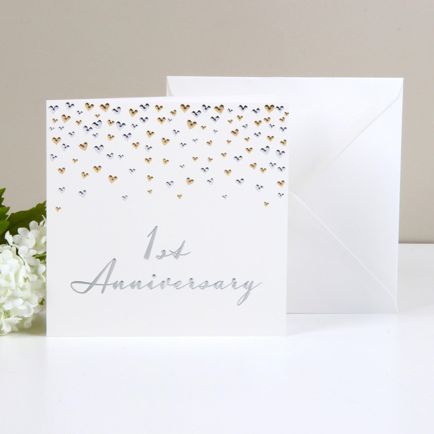 Biglietti Di Auguri Per Anniversario Di Matrimonio.Biglietto Di Auguri Per Primo Anniversario