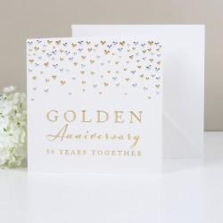 Biglietto d'auguri nozze d'oro
