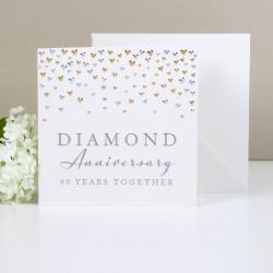 Biglietto di auguri per nozze di diamante