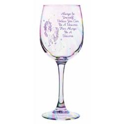 Calice di vino a tema unicorno