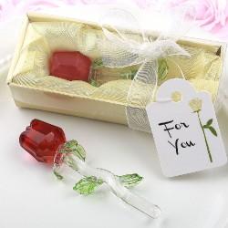 Rosa di cristallo di colore rosso