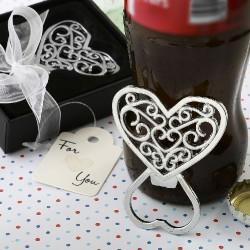 Apribottiglie in metallo a forma di cuore