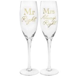 Flutes a tema per sposo e sposa