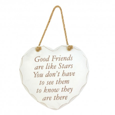 Cuore da appendere con dedica per amici
