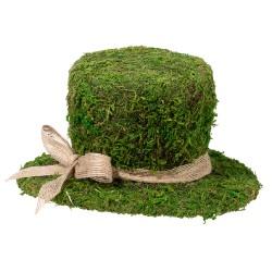 Decorazione di muschio a forma di cappello