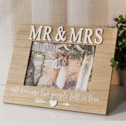 Cornice portafoto a tema love story Mr e Mrs