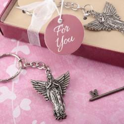 Portachiavi con angelo in metallo