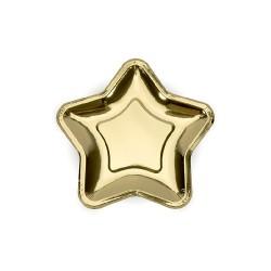 Piatti a forma di stella dorata set 6 pezzi