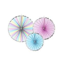 Festoni decorativi a tema unicorno set 3 pezzi