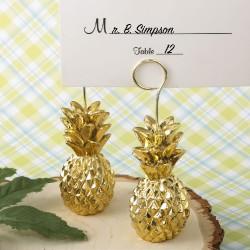 Segnaposto e segnatavolo con ananas dorato