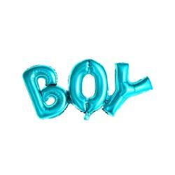 Palloncino a forma di scritta Boy azzurro