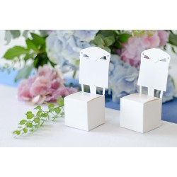 Segnaposto di carta a forma di sedia 10 pezzi